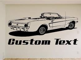 1965 Ford Mustang Car Wall Decal Auto Wall Mural Vinyl Stickers