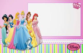 Disney Princess Free Printable Invitations Or Photo Frames