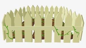 Plant Grass Tree Fence Around Garden Clipart Hd Png Download Kindpng