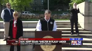 Gov. Kemp to sign shelter in place ...