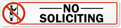 No Soliciting Decals No Soliciting Stickers
