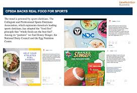 the sports sector looks to real food