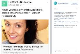no makeup selfie cancer support