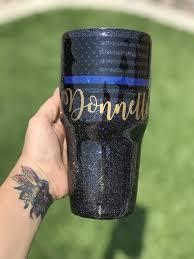 Police Law Enforcement Support Tumbler Custom Tumbler Cups Glitter Tumbler Cups Glitter Cups