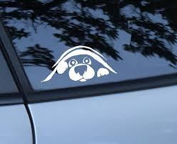 Dog Peeking Car Decal Animal Lover Gift Dog Rescue Love My Dog Dog Sticker Bumper Sticker Dog Peeking Pit Dog Dog Decals