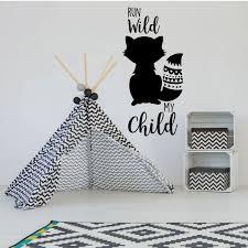 Run Wild My Child Quote Boy Girl Children Room Vinyl Wall Decal Decor Customvinyldecor Com