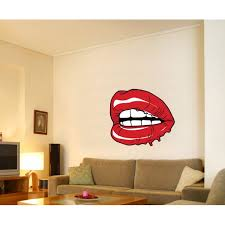 Red Lips Wall Decal Vinyl Decal Car Decal Idcolor007 25 Inches Walmart Com Walmart Com