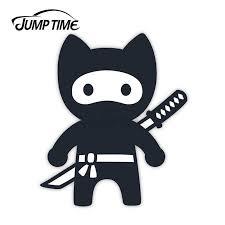Jump Time Samurai Cat Vinyl Stickers Karate Kitten Fun Sticker Laptop Jdm Decal Car Wrap Bumper Trunk Truck Graphics Car Stickers Aliexpress