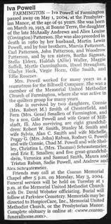 Iva Patterson Powell (1913-2004) - Find A Grave Memorial