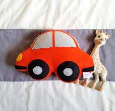 Felt Car Shaped Pillow Kids Transportation Theme Room Etsy