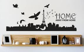 Custom Wall Decal Vinyl Sticker Home Away From Home Mural Image Quote Mural 14x28 Walmart Com Walmart Com