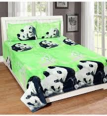 3 piece panda printed bedding set