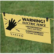 Zareba Systems 3 Pack Electric Fence Warning Signs In The Electric Fence Accessories Department At Lowes Com