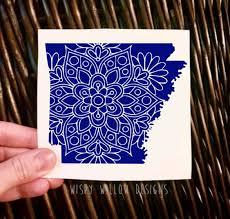 Arkansas State Decal Sticker Mandala Decal Ar Car Decal Ar Decal Ar Sticker Car Sticker Arkansas State Sticker Vinyl Decal M Vinyl Decals Vinyl Mandala