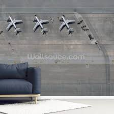 Planes At Airport Wall Mural Wallsauce Us