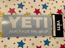 Yeti Decal New Authentic Built For The Wild Tumbler Sticker 3 69 Picclick Uk