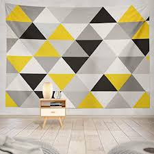 Amazon Com Lalilo Decorative Tapestry White And Gray Geometric Mesh Triangles Mosaic Grey Wall Hanging Tapestry For Bedroom Living Kids Girls Boys Room Polyester 50 L X 60 W Home Kitchen