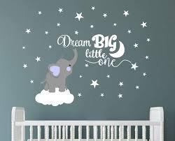 Elephant Wall Decor For Baby Room Ideas Nursery Orange Stencil Design Girl Name Deer Vamosrayos