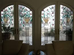 stained and leaded glass inserts