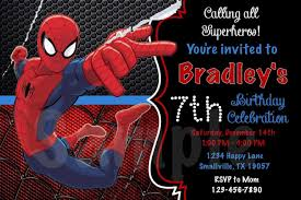 Cool Spiderman Birthday Invitations Check More At Http Www
