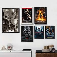Retro Posters And Prints Classic Movie The Terminator Home Room Wall Decoration Vintage Poster Paintings Printed Wall Decor Best Wall Decals Best Wall Stickers From Starch 34 22 Dhgate Com
