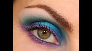 disco blue party eyes makeup tutorial