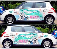 Anime Itasha Sticker Hatsune Miku Hd Printing Vinyl Car Decals Rally Stickers Auto Door Body Drift Racing Decal Protective Film Aliexpress