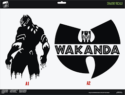 Black Panther Vinyl Decal Set Of 2 Stand And Wutang Sticker Car Truck Window Car Stickers Funny Car Stickers Diamond Decals