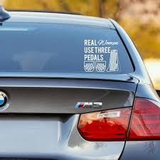 Real Women Use Three Pedals Cars Decal Manual Transmission 6 Speed 5 Speed 6mt Stick Shift Sticker Multiple Car Decals Car Decals Stickers Manual Transmission