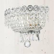john lewis alexa crystal wall light x 2