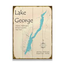lake george new york map sign old
