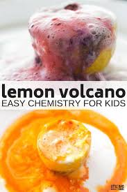 erupting lemon volcano chemistry for