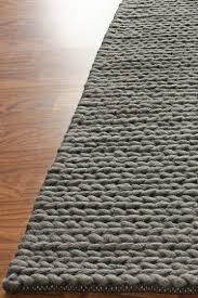 nuloom chunky cable wool rug grey