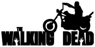 Amazon Com Daryl Dixon Motorcycle The Walking Dead Halloween Horror Black Vinyl Decal Bumper Computer Sticker Cling Scary Halloween Everything Else