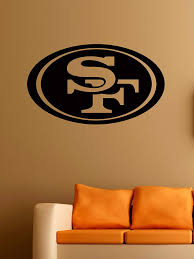 Amazon Com San Francisco 49ers Logo Wall Vinyl Decals American Football Logotype Game Team Vinyl Decals Vinyl Murals Stickers Il1121 Kitchen Dining