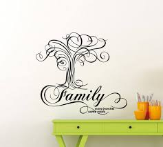 Family Wall Decal Many Branches Same Roots Tree Quote Etsy