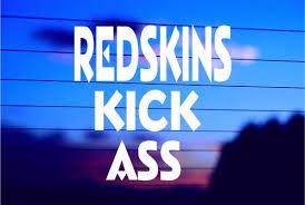 Redskins Kick Ass Car Decal Sticker