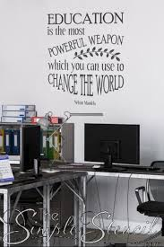 Education Is The Most Powerful Weapon Nelson Mandela Wall Quote Classroom Wall Quotes Classroom Walls Wall Quotes Decals