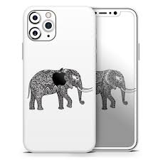 Black And White Aztec Ethnic Elephant Designskinz Protective Vinyl Decal Wrap Skin Cover Compatible With The Apple Iphone Xr Full Body Screen Trim Back Glass Skin Walmart Com Walmart Com