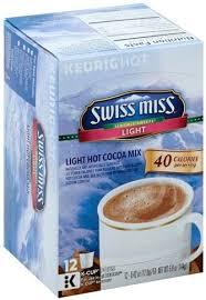 swiss miss light k cup pods hot cocoa