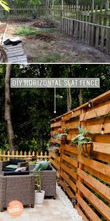 Stunning Diy Horizontal Slat Fence Lifestyle Fresh Mommy Blog Backyard Makeover Patio Fence Diy Privacy Fence