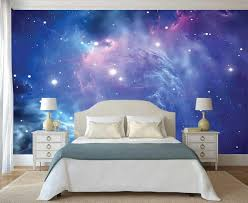 Space Wallpaper Wall Decal Constellation Wall Mural Galaxy Etsy