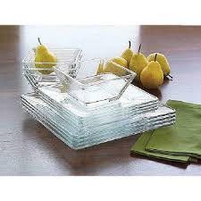 libbey crisa moderno clear glass set