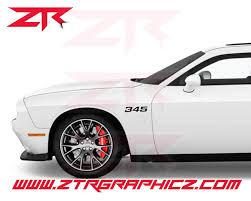 Custom Dodge Challenger 345 Fender Decals Ztr Graphicz
