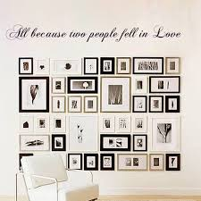 Love Wall Decal All Because Two People Fell In Love Wedding Quote Couple Room Decor Vinyl Sticker 46 X5 Wall Decals Vinyl Stickersroom Decoration Aliexpress