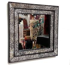 frame 68x68cm clear glass mosaics