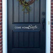 Amazon Com Come Home Safe Family Door Wall Decal Home Wall Sticker Quote Small White Home Kitchen