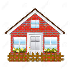 Comfortable Facade House With Garden And Wooden Fence Vector Royalty Free Cliparts Vectors And Stock Illustration Image 74991854