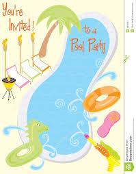 Invitacion Del Partido De Piscina Del Verano Ilustracion Del