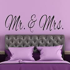 Amazon Com Vinyl Wall Decal Newlywed Wall Decal Wedding Gift Mr Mrs Same Sex Couples Master Bedroom Wall Decal Bridal Shower Gift Made In The Usa Home Kitchen